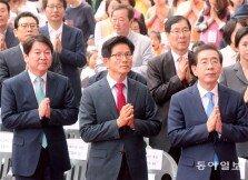 서울시장 후보들, 부처님오신날 합장