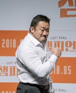 [DA:현장] 마동석의 팔씨름 ♥…'챔피언', 제2의 '범죄도시' 될까(종합)
