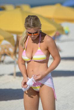 로렌 엘리자베스, 상큼한 수영복 속 볼륨감 넘치는 몸매