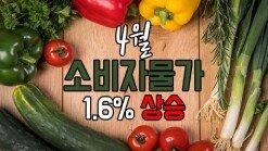 4월 소비자물가 1.6% 상승
