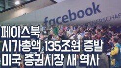 페이스북, 시가총액 134조원 증발