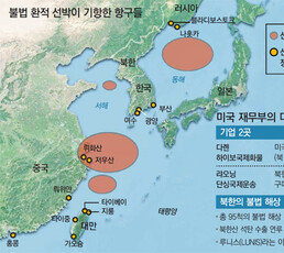 """""""美 정보당국, 복수의 한국선박 불법환적 정황 잡고 추적중"""""""