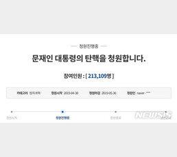 """""""文대통령 탄핵"""" 청원 20만 돌파…청원 난립에 靑 '고민'"""