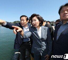 """나경원, 해군 1함대서 문전박대 """"靑이 시킨 것…통탄"""""""