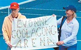 테니스 전설들, 시위한 까닭은…