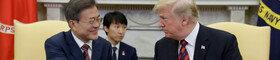 [속보] 文대통령·트럼프, 백악관서 한미 단독회담