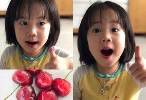 '유진 딸' 로희, 아역배우급 미모 '모전여전'