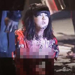 가수 솔비, 파격 페인팅 퍼포먼스