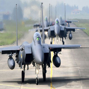 F-15K, KF-16 대규모 공중전투훈련 실시
