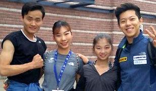 북한 피겨선수들 표현력 좋아