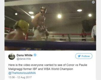 UFC 회장, 맥그리거 '기 살려주는' 영상 공개…복싱계 등 반발