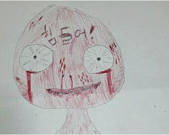 [단독]악몽 시달린 여학생 그림엔 '피 범벅'