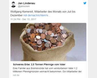 유산으로 받은 동전 120만 개, 은행원이 6개월간 직접 세어보니…총액 실화냐?
