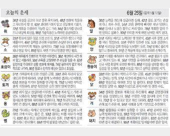 [오늘의 운세/06월25일]