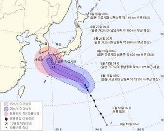 제19호 태풍 솔릭, 일본 가고시마 북상…한반도 강타 가능성은?