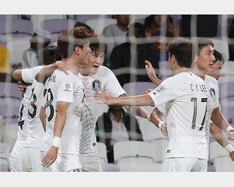'김민재 결승골' 한국, 키르기스스탄에 1:0 신승…16강 확정
