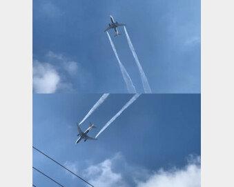하늘위 비행기서 항공유 쏟아져…초등생들 '기름 세례' 날벼락 (영상)