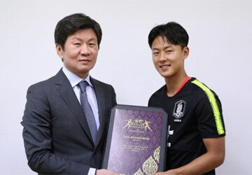 이승우, AFC 유스 플레이어상 뒤늦게 수상