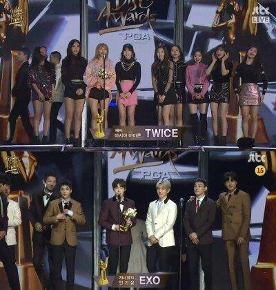 [2018 골든디스크] 트와이스-엑소, 쎄씨 아이콘상 수상… 엑소 2관왕