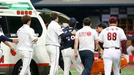 두산 김명신, 입원…붓기로 수술 일정은 미정