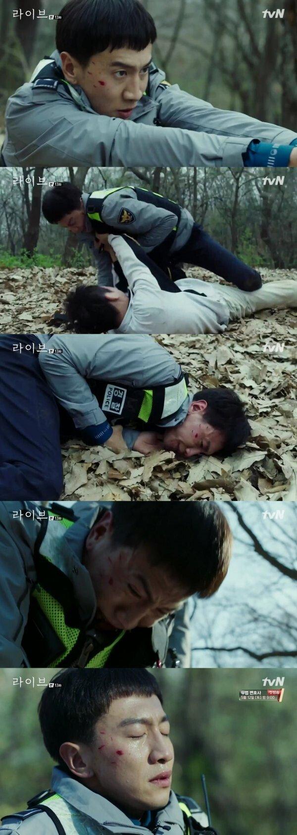 [DA:클립] '라이브' 이광수, 성폭행범 잡았다…'사명감+1' 채워