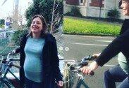 """""""아이 낳으러 간다""""…만삭 임산부, 출산 위해 자전거 타고 병원行"""