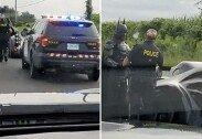 도로서 경찰에 검문 당한 배트맨…알고 보니
