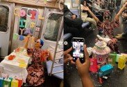 """""""역대급 민폐""""…지하철서 생일파티 벌인 여성들 '뭇매'"""