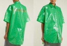 비닐 셔츠에 명품 로고 새겼더니…100만 원짜리로 둔갑!