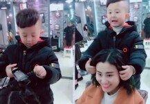 '미용 신동' 6세 소년, 놀라운 커트 기술…고객 '대만족'