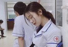 드라마 촬영 중인가요?…미모의 간호사 사진 '후끈'