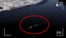 알래스카 강에 나타난 괴물?, 움직이는 모습이…