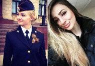 러시아 여성경찰 수준! 강인함까지 갖췄다