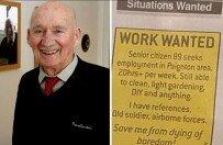 """""""경로당 안가고 일하겠다"""" 英 89세 할아버지, 음식점 취직 성공"""