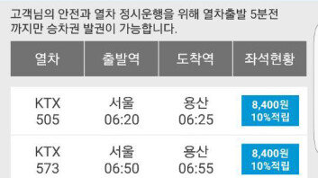 """""""무려 8400원!""""… KTX 서울역-용산역 요금, 어떤가요?"""