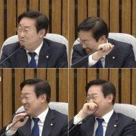 """""""푸훕!""""… 청문회서 웃음 터뜨린 박범계, '박뿜계' 등극"""