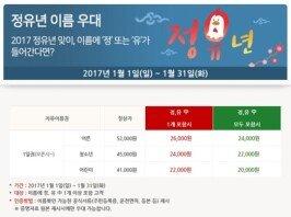 """""""닭띠 모여라""""… 팡팡 터지는 '2017 정유년' 할인 혜택"""