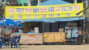 """""""음료수·돗자리, '시가'""""… 부산 해수욕장 가격표에 '시끌'"""