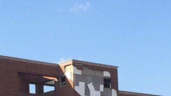 외벽 무너지자 학생들 '우르르'… 한동대 대피 상황