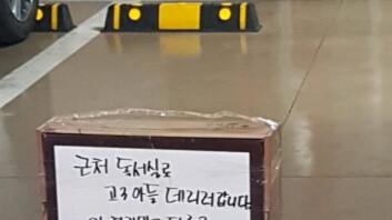 """""""고3 아들 때문에…"""" 몰지각한 주차 금지 문구, '분노'"""