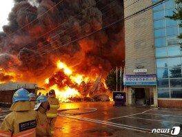 광주 태전동 창고서 화재…소방당국 '진화 중'