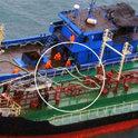 北韩油轮与疑似中国船只被发现私下交易,被发现油管相连接
