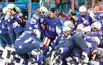 美国女子冰球时隔20年再次夺得冬奥会金牌