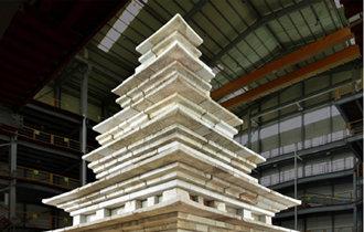 结束修缮工程的益山弥勒寺址石塔