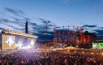 """芬兰""""Flow Festival音乐艺术节""""气氛非常火热的现场"""