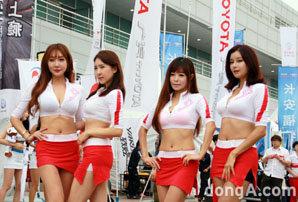 2014 한중모터스포츠 페스티벌 모델들