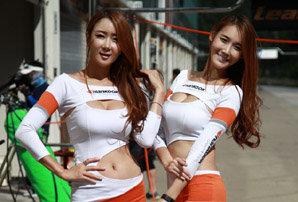 태백 서킷위의 미녀들