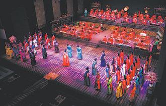 A heroic saga reborn as traditional Korean music and dance