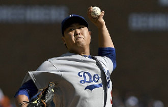 Ryu Hyun-jin pitches five scoreless innings but loses to the Detroit