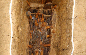 A tomb site of early Apdokguk chief discovered